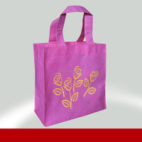 New style green shopping bag,convenient non woven carrying bag, drinking bottle bag