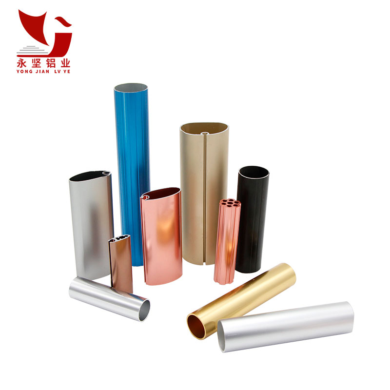 Colorful anodized profile aluminium pipe, aluminium round tube