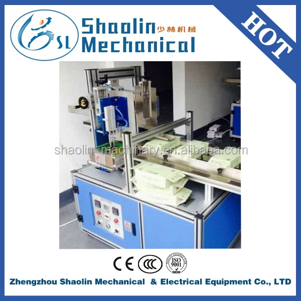 Semi Automatic mini folder gluer machine with Hot Melt Adhesive