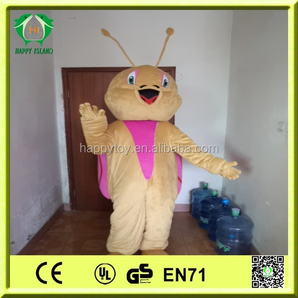 HI CE new item 2015 hot sale funny customized happy snail mascot costume for party
