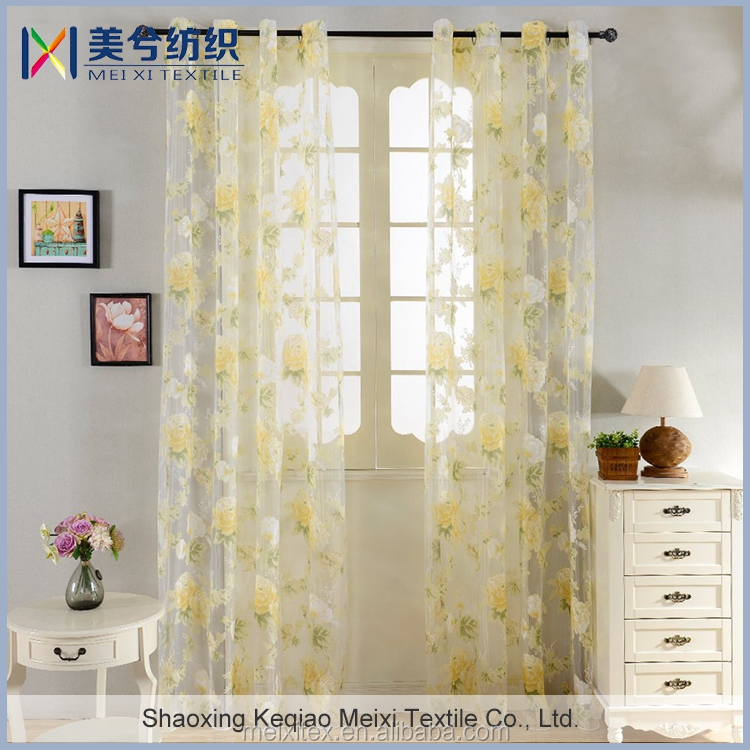 decorative oriental bedroom tulle organza burnout curtain for home textile