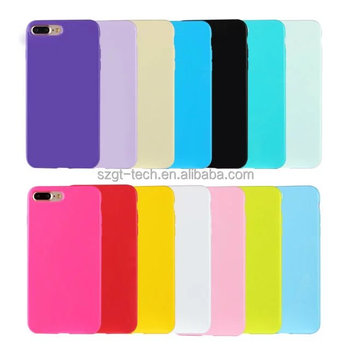 Ultra thin Candy color soft tpu bumper phone case for iphone 7 7plus tpu mobile cover