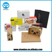 2016 Hot Selling DIY 3D Google Cardboard With NFC OEM Google cardboard 3D vr glasses for promotional gifts
