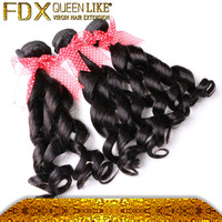 cheap china products spring curl remy human hair for weaving