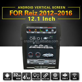 12.1inch Android car multimedia for Toyota Reiz 2012 - 2016 auto radio player with WiFi BT 3G phone link GPS multimedia system