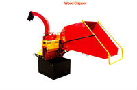 Wood chipper for tractor with handle blade