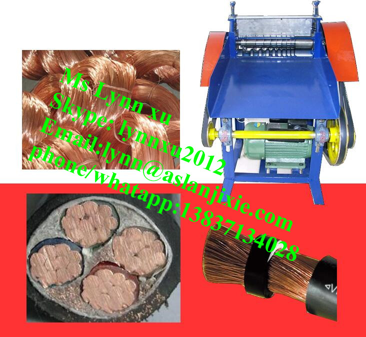 electric scrap copper cable separator /used copper wire stripping machine