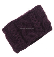 Fashion western popular hair accessories for adult handmade crochet knit wide women headband