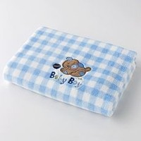 100% Polyester Baby Blanket With Plush Elephant