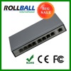 Nice price wall mount 8 port poe switch 10/100/1000M with fixed ears
