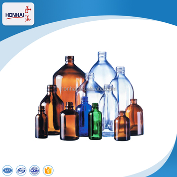 Flint Clear and Amber Infusion Glass Bottle for Intravenous Injection