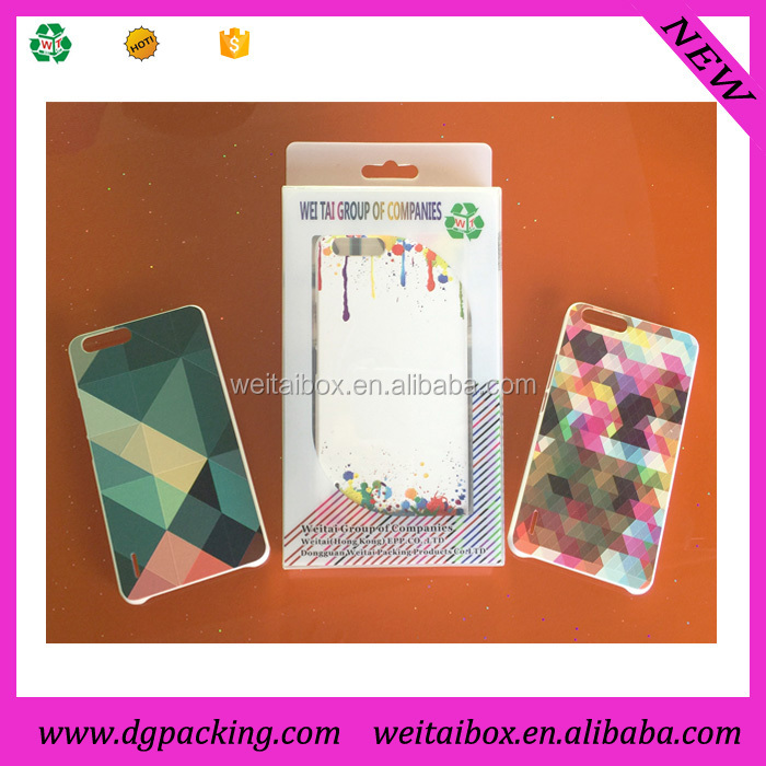 Mobile Phone Case Package PVC Transparent Plastic Packaging Box for iPhone 6 Plus