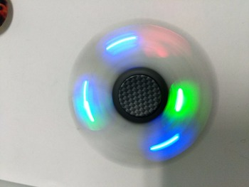 Multicolor body lighting fidget finger hand spinners