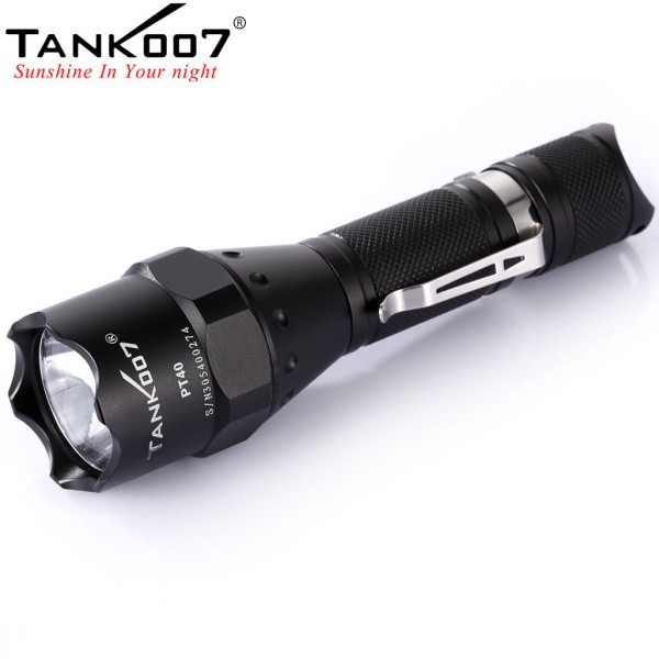 Super bright led torch light 1000 lumen survival flashlight PT40 tactical torch