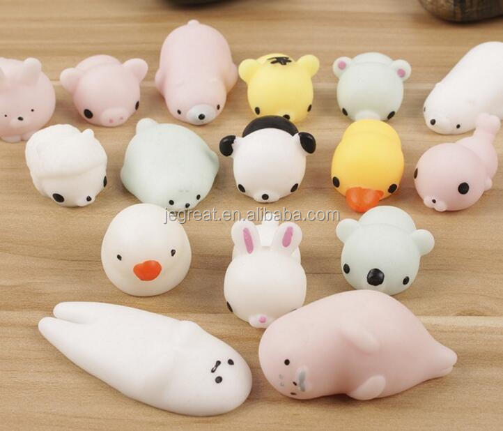Kawaii Cute Animal Squeeze squishy Hand Toy Kids Gift Colorful Seals Stress Pressure Vent Decompression Toy