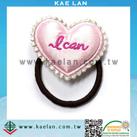 Custom heart design hair band, hair band with embroidery