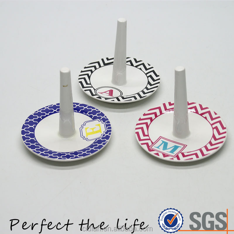 Ceramic daily round Jewelry Ring Tray