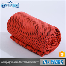 Whole sale micro fiber cool towel 100% polyester travel sweat cooling cool towel