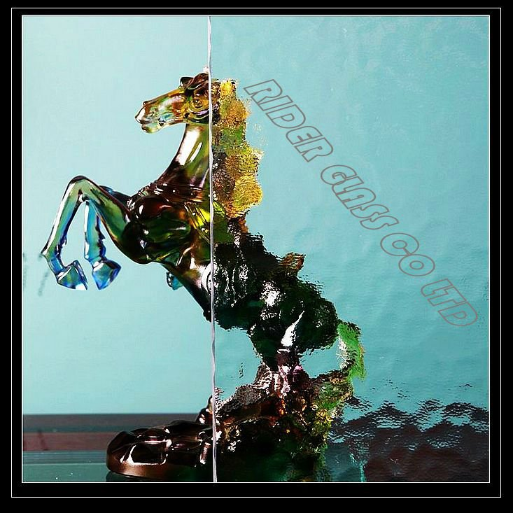 3.5/4/5/5.5mm Clear Water Wave Pattern Glass with CE & ISO9001