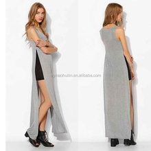 Sparkle & Fade Side-Slit Maxi Slip Dress long dresses high slit