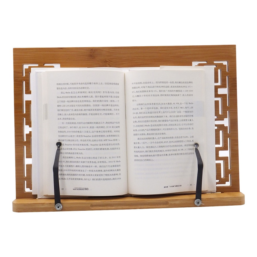 wood folding book Document reading desk holder stand Bookstand