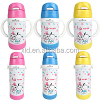 colorful thermos 350ml baby bottle stainless steel