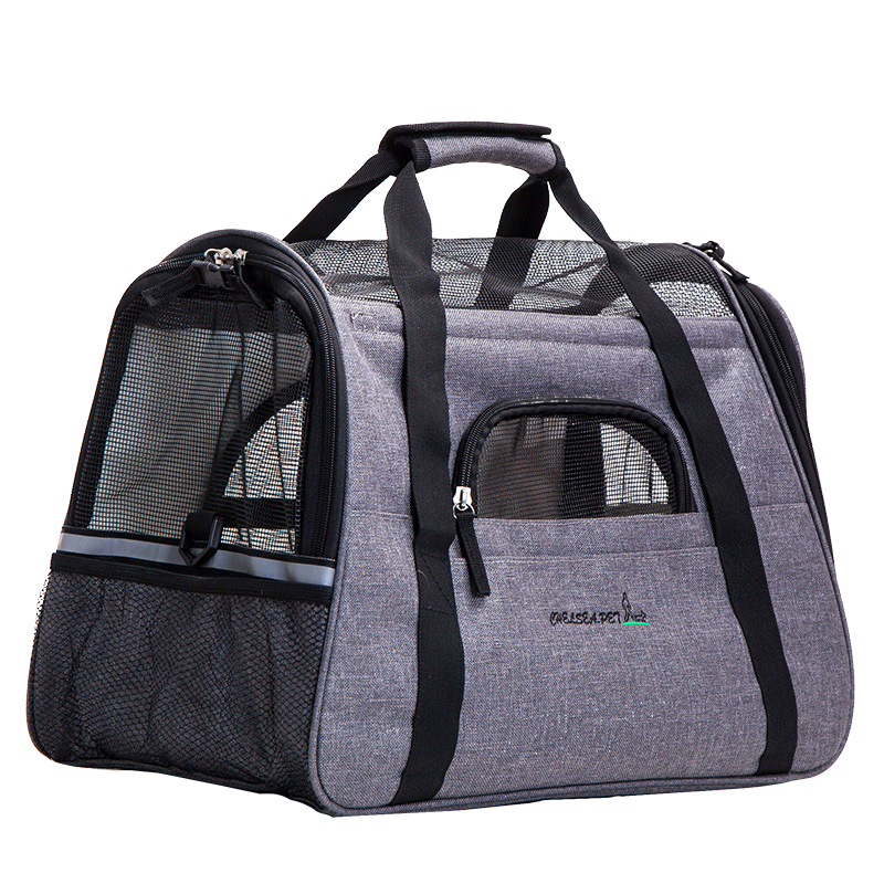 outdoor portable dog cat puppy travel carrier pet bag with fleece bed