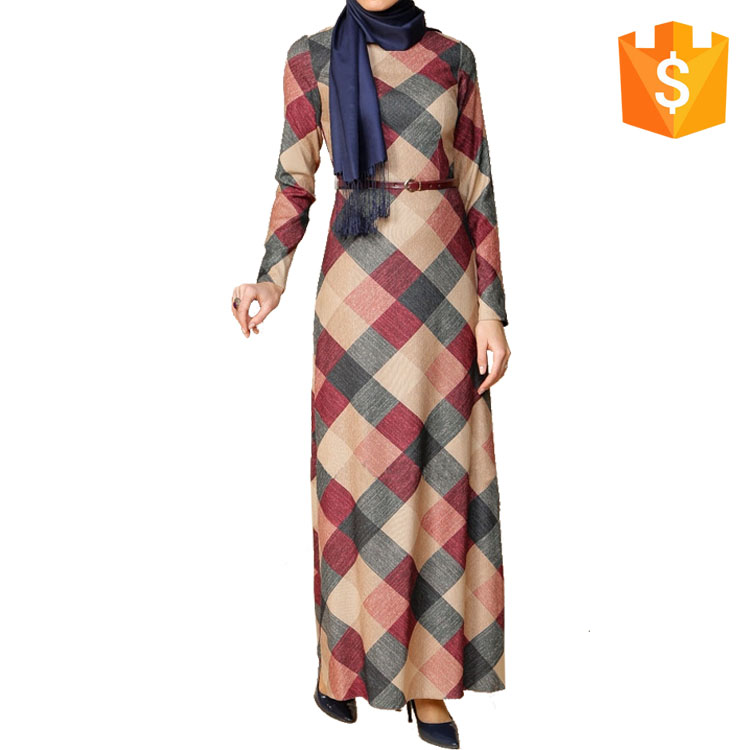 Dubai New Design Women Long Casual Sublimation Print Arabic Muslim Daily Abaya