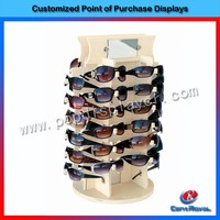 Best selling counter wooden sunglass pop pos stand