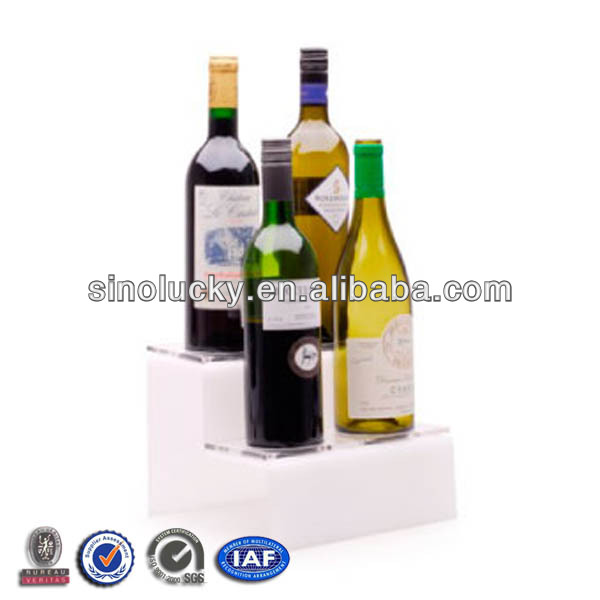 Acryl Stairs Wine Display Stand,Wine Bottle Display Shlef,Plxi Wine&Bottle Display