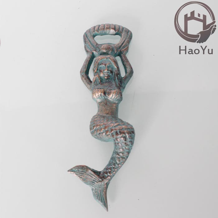 cast iron mermaid beer bottle opener
