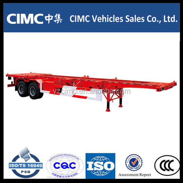 Air suspension fuwa Axles 40t 40ft skeletal chassis container trucks trailers