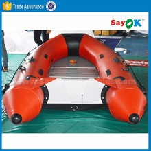 CE certificat China inflatable fishing boat kayak inflatable with aluminium floor