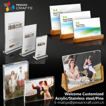 A5/A6/A4 Transparency Acrylic plate Magnet Menu Display Stand Holder table display Acrylic holder