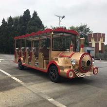 Electric trackless 14seat road train for sale