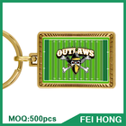 Promotional Custom Logo Printable Zinc Alloy Keychain American Football Gift