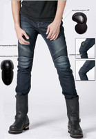Wholesale import damaged mans motorcycle protective jeans