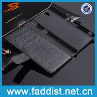 Leather Flip Case for Sony Xperia Z L36 H Luxury Wallet Case