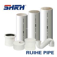 6 inch PVC flexible drain pipe/large diameter orange pvc pipe