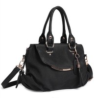 Factory direct cheap tassel bag female handbag classical handbag trendy bag