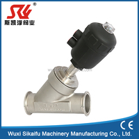 Pneumatic/Manual actuate angle seat valve new style in 2016