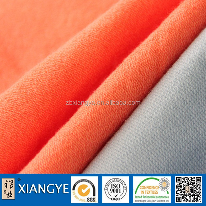 China Textile 100% Polyester Spandex Soft Shell Brushed French Terry Knitting Fabric For Women's