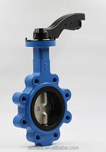 Lug Type CF8 disc dual shaft Butterfly Valve