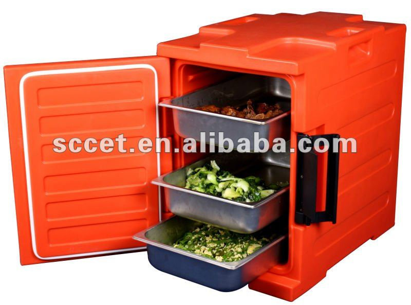 91QT Plastic Food Warming Cabinet with four wheels
