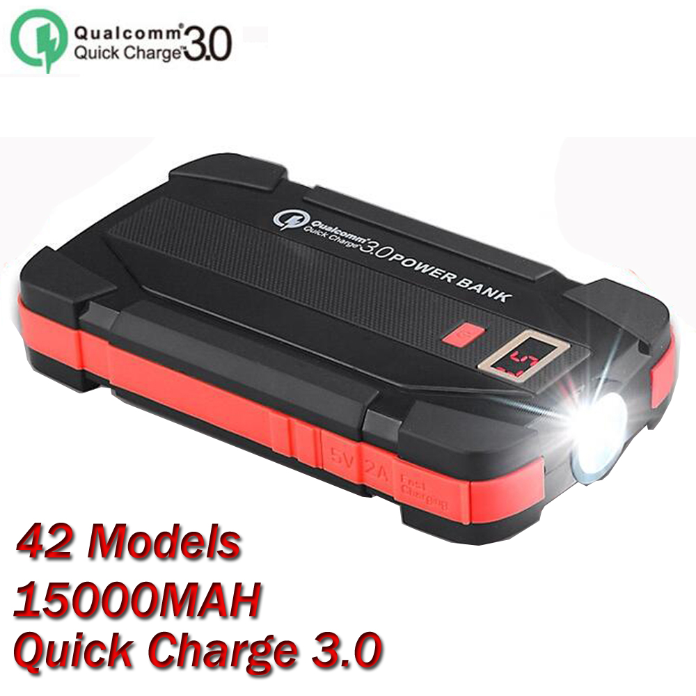 OEM 42 Models Solar charger Quick Charging QC 3.0 Solar Power Bank 20000mAh Waterproof PowerBank Portable Charger With 12Pcs LED