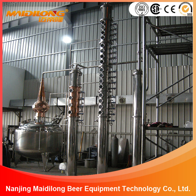 500L Red Copper Alcohol Wine Ethanol Whiskey Brandy Rum Vodka Gin Tequila Steam Distillation Equipment