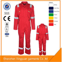 Factory Supply 100% Cotton Twill fire retardant oil resistant coverall for oil and gas