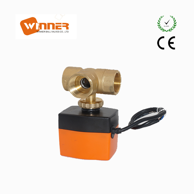 on/off control AC220V 3-way motorized ball valve