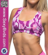 New Arrival Camouflage Sexy Sports Bra Yoga Wear For Women
