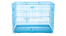 Hight Quality Two Doors Pet Dog Metal Collapsible Cage Crate Kennel With Plastic Flooring Tray